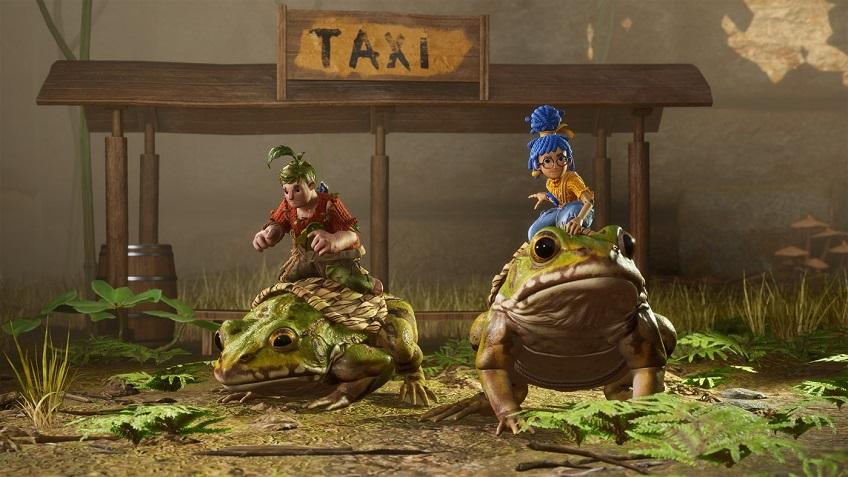 Cody ve May kurbağalara binerek kızlarına ulaşmaya çalışıyor.