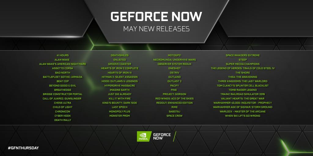 geforce now mayıs ayında 61 oyun daha ekliyor